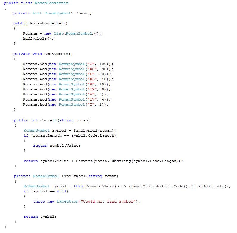 Netarchitects Coding Dojo Converting Roman Numerals To Decimal